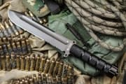 "Нож фирмы Kizlyar Supreme "" Survivalist"" Z AUS-8 Gray Titanium Serrated"